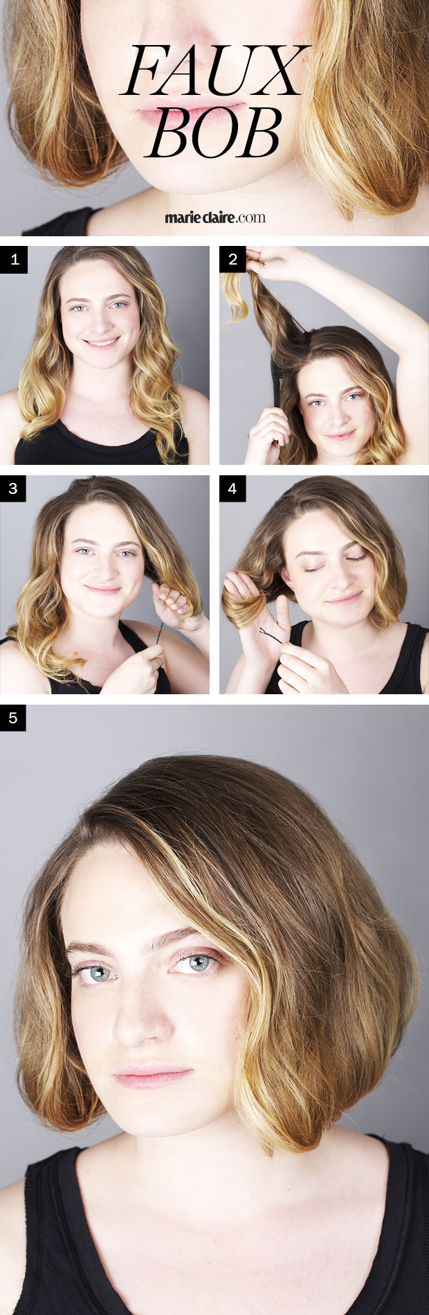 Admirable Hair How To How To Create A Faux Bob Hairstyles For Men Maxibearus