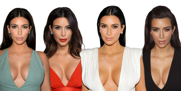 Kim Kardashian Cleavage Tips Bra 2014
