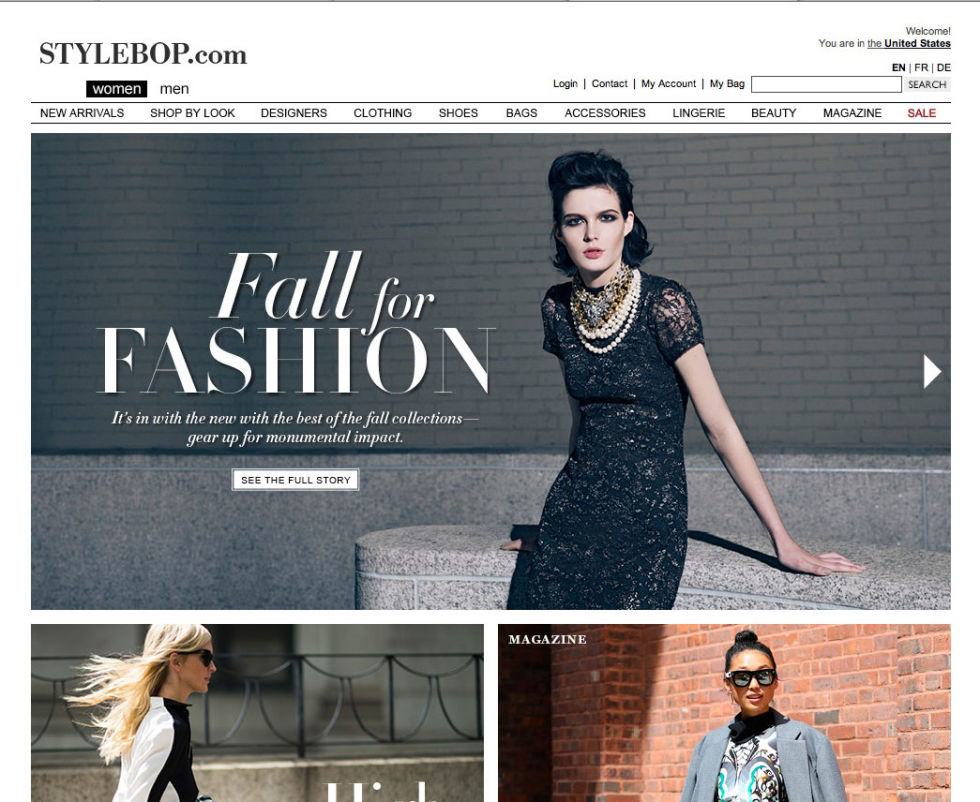 Top Clothing Designer Websites The Fashion Site