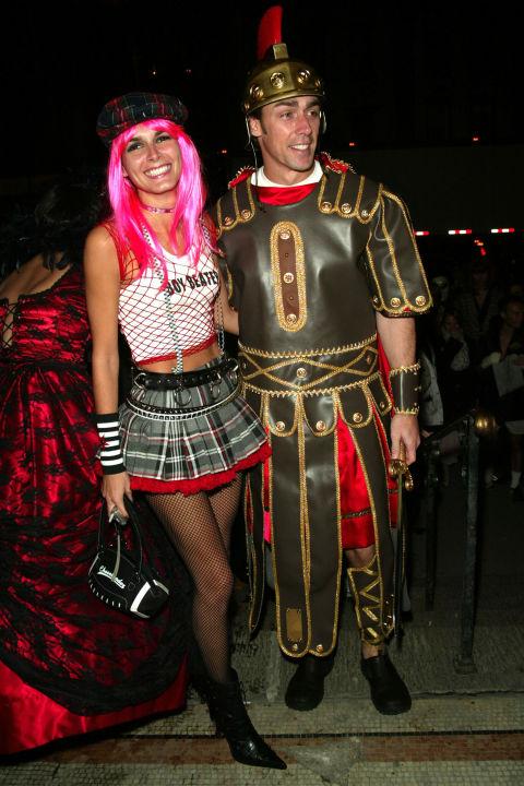 Angie Harmon as Gwen Stefani and Jason Sehorn as a gladiator.