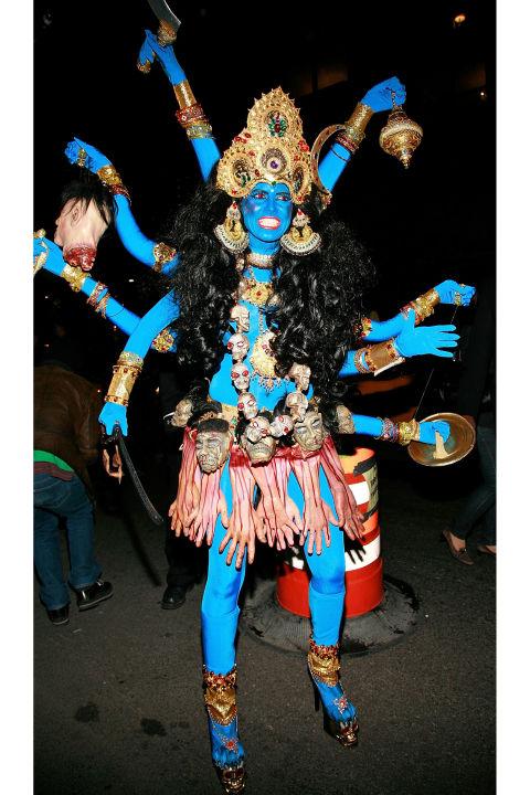 Heidi Klum as Hindu god Kali.