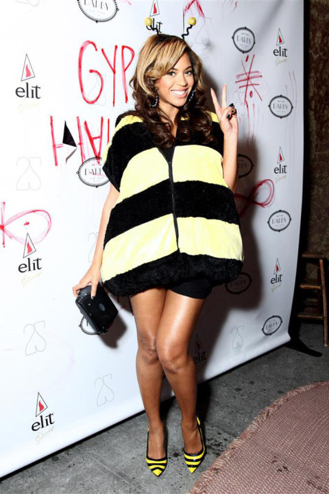 Beyonce as her signature symbol, the bumblebee.