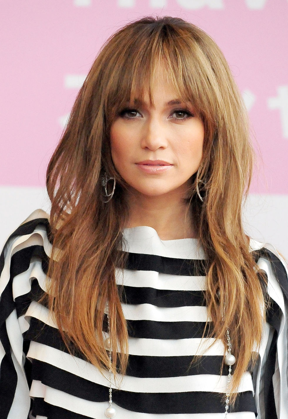 35 long hairstyles with bangs - best celebrity long hair with
